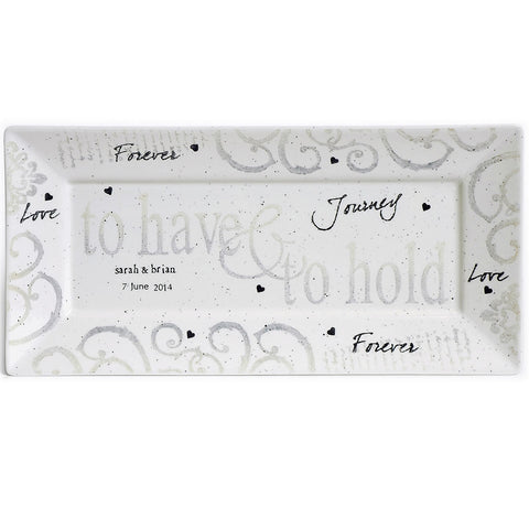 3021 HHN - Have & Hold Wedding Platter