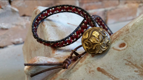 Fancy Single Leather Wrap Bracelet Workshop Friday July 13, 7-9pm