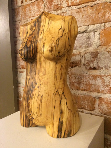 """Spalted Birch Torso"" 