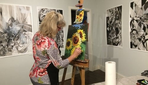 4 Week Acrylic Painting with Susan Larrow 11/28-12/19, 5:30-7:30pm
