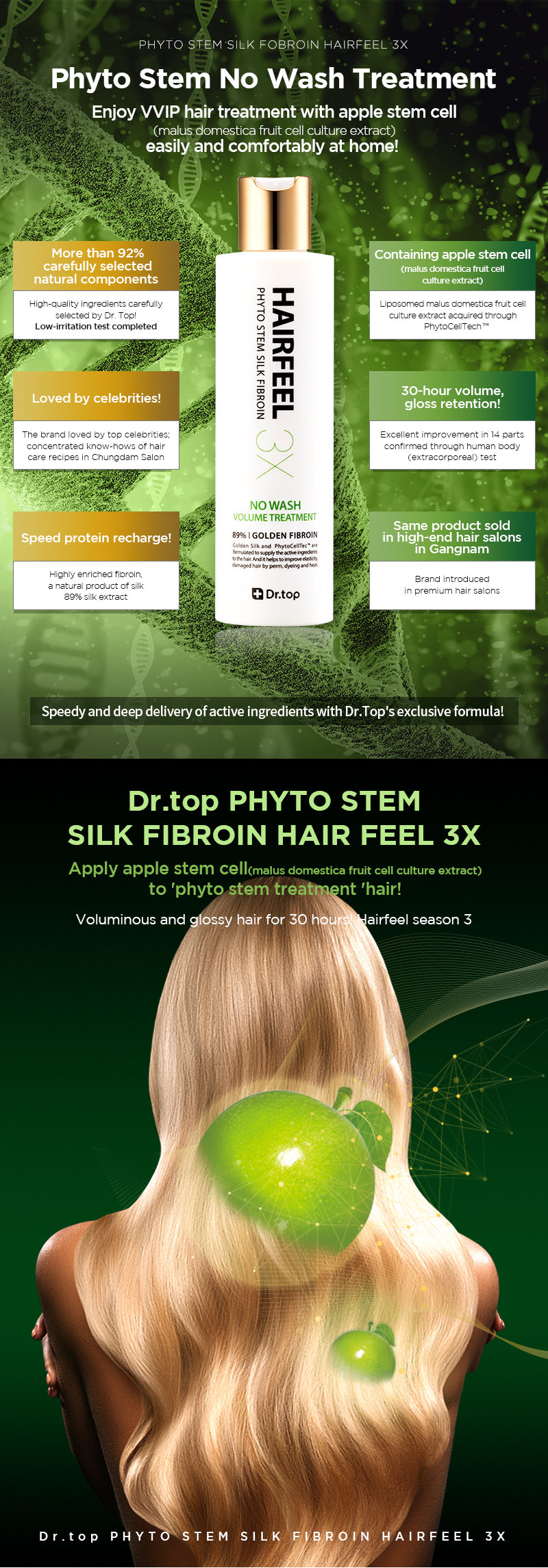 DR TOP PHYTO STERM GOLDEN SILK FIBROIN HAIRFEEL 3X
