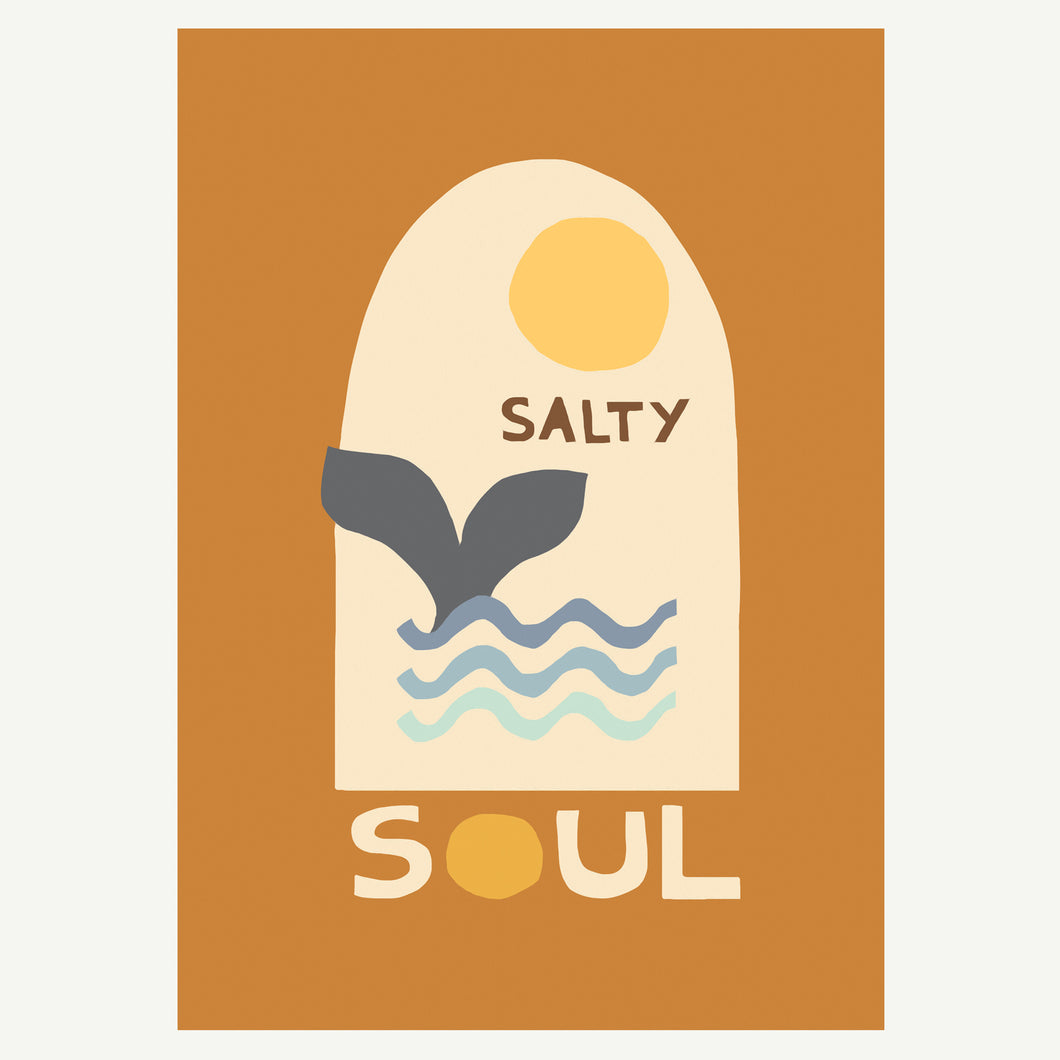 Salty Soul Cotton Canvas Wall Hanging
