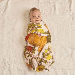Vege Patch Bamboo / Organic Cotton Swaddle