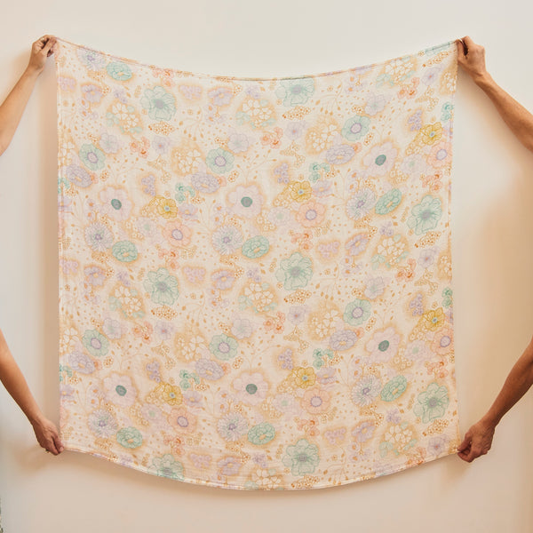 Apple Blossom Bamboo / Organic Cotton Swaddle