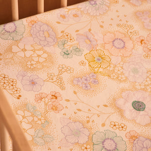 Apple Blossom Hemp/Organic Cotton Fitted Cot Sheet