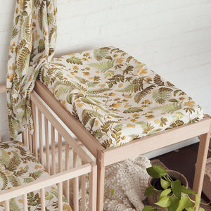 Rainforest Hemp/Organic Cotton Bassinet Sheet/Changing Pad Cover