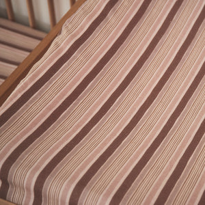 Ghost Gum Stripe Hemp/Organic Cotton Bassinet Sheet/Changing Pad Cover