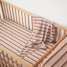 Ghost Gum Stripe Hemp/Organic Cotton Cot Sheet