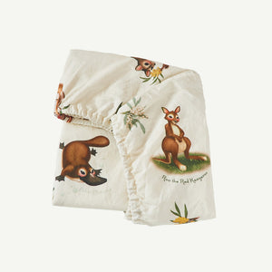 Marsupial Fitted Bassinet Sheet / Changing Pad Cover