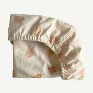 Shell Collector Fitted Bassinet Sheet/ Changing Pad Cover