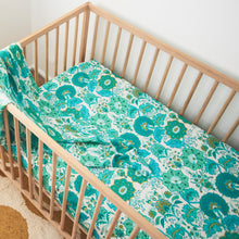 Bella Blue Hemp/Organic Cotton Fitted Cot Sheet