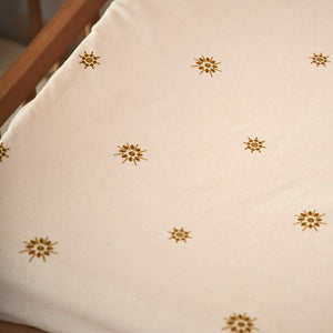 Celestial Gold Fitted Bassinet Sheet / Changing Pad Cover