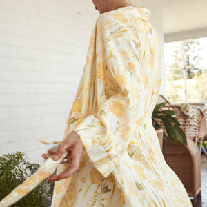 Goldfields 100% Linen Robe