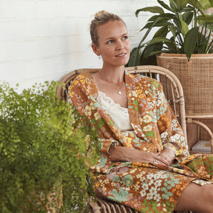 Gold Meadow 100% Linen Robe