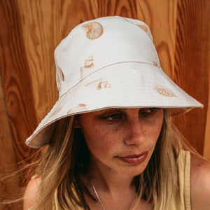Shells Reversible Bucket Hat