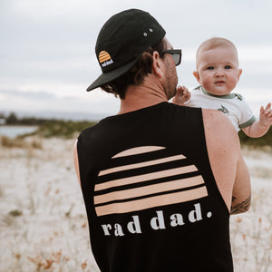 Rad Dad Singlet - Black