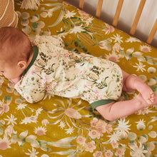 Banksia Bloom Hemp/Organic Cotton Fitted Cot Sheet
