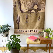 Take A Day Trip Tapestry Blanket