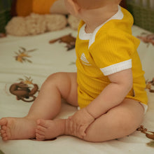 Sunflower Ribbed Organic Cotton Short Sleeve Onesie