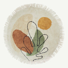 Abstract Eucalypt Tufted Round Rug