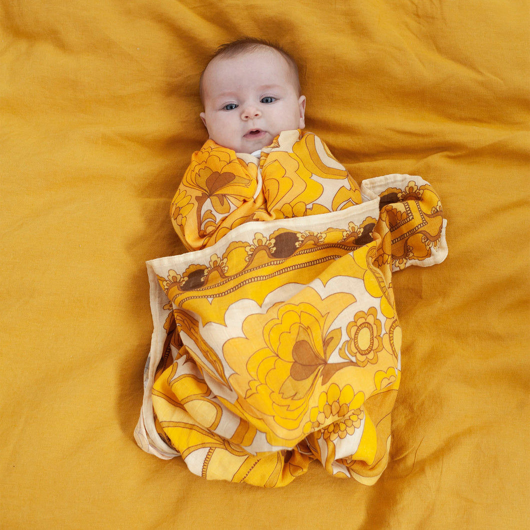 PRE ORDER Golden Child Bamboo/Organic Cotton Swaddle