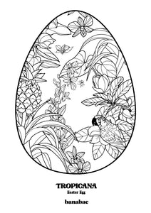 FREE Tropicana Patterned Egg A4 Digital Art Download