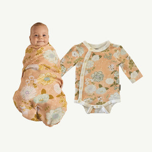 Blossom Bundle Onesie and Swaddle