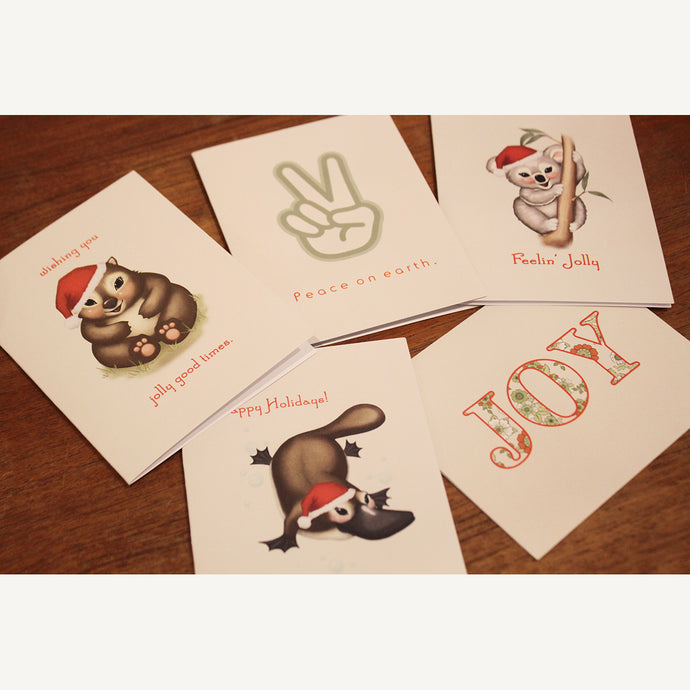 Aussie Christmas Greeting Cards 5 pack