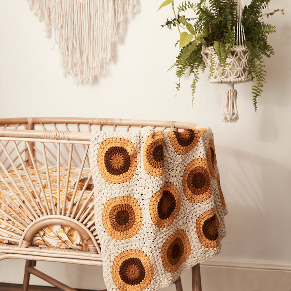 Sunflower Cotton Crochet Blankie