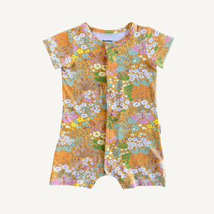 Gold Meadow Organic Cotton Snap Through Playsuit