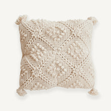 Natural Textured Crochet Cushion