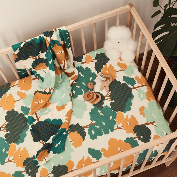 Gum Trees Hemp / Organic Cotton Fitted Cot Sheet