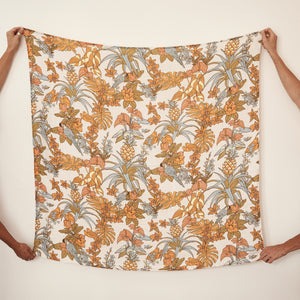 Pre-Order now for 26th March delivery - Tropicana Bamboo / Organic Cotton Swaddle