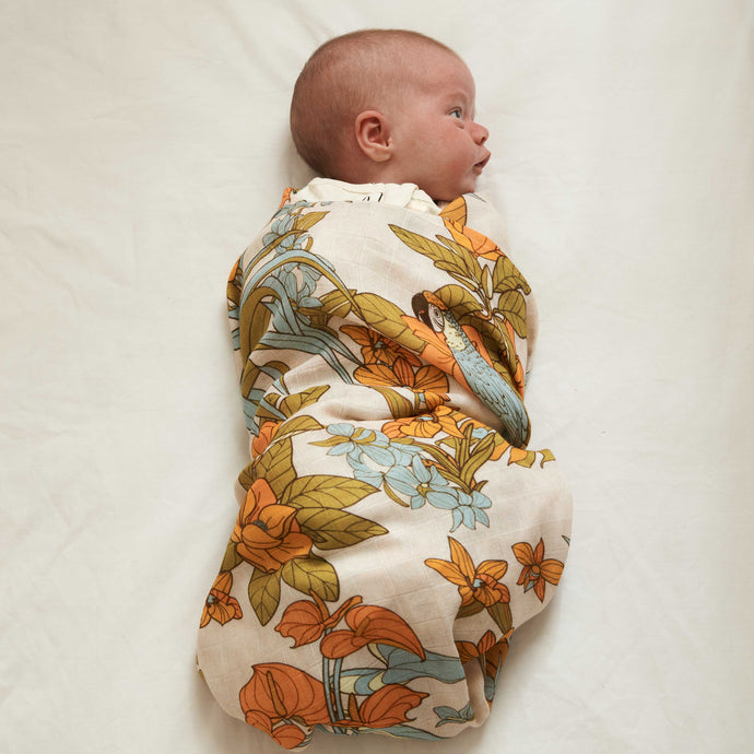 Tropicana Bamboo / Organic Cotton Swaddle