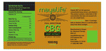 Load image into Gallery viewer, New! Mayalife CBG Tincture - 1000MG - 1 Ounce
