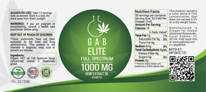 GAB Elite Hemp Extract Oil - 1000MG - 1 Ounce