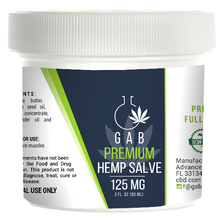 Load image into Gallery viewer, GAB Premium Hemp Extract Salve - 125MG - 3 Ounces
