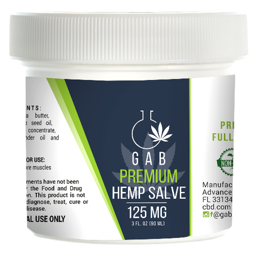 GAB Premium Hemp Extract Salve - 125MG - 3 Ounces