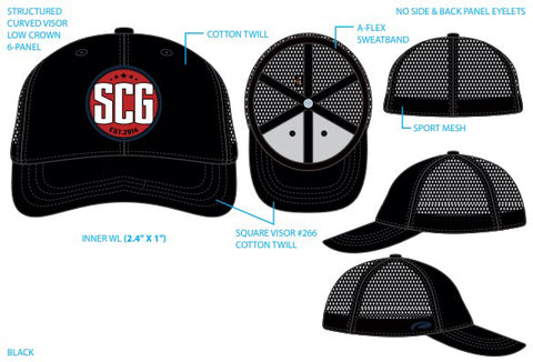 SCG Woven Patch Trucker Hats