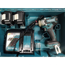 Load image into Gallery viewer, Cordless Impact Wrench with 2 Batteries and Fast Charger (Teal Blue)