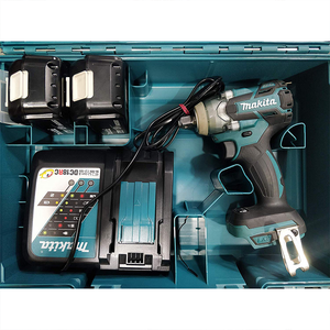 Cordless Impact Wrench with 2 Batteries and Fast Charger (Teal Blue)