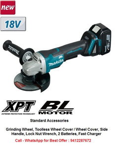 Cordless Angle Grinder MAKITA, Model : DGA508RFE