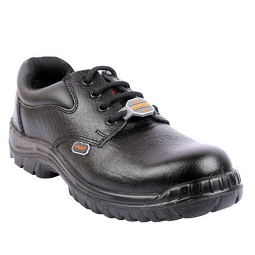 Hillson Argo Black ISI Approved Steel Toe Leather Safety Shoe