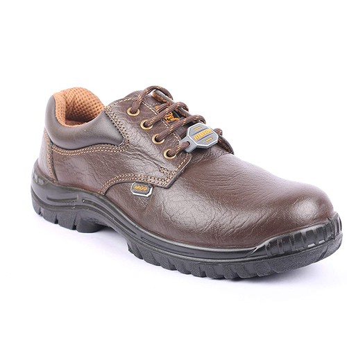 Hillson Argo Brown ISI Approved Steel Toe Leather Safety Shoe
