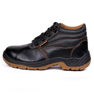 Hillson Workout Synthetic Leather Safety Shoes Black