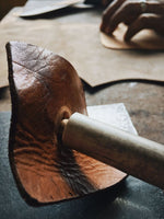 grain handmade leather work