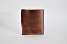 "Load image into Gallery viewer, The ""Clásico"" Bi-Fold Wallet // BROWN & BLUE"
