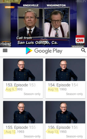 Larry King 1993 removed from Google Play