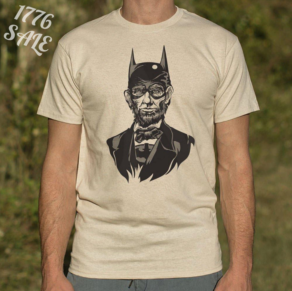 Caped Emancipator T-Shirt - Abe Lincoln as Batman