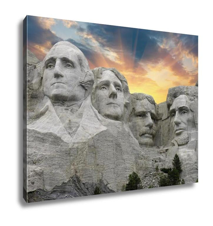 Mount Rushmore Sunset wall art canvas